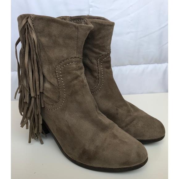 1a128181c6cc9 Sam Edelman Shoes - Sam Edelman Fringe Louie Western Bootie 6